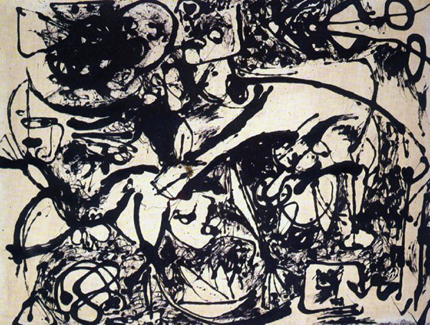 Pollock2number8blackflowing1951